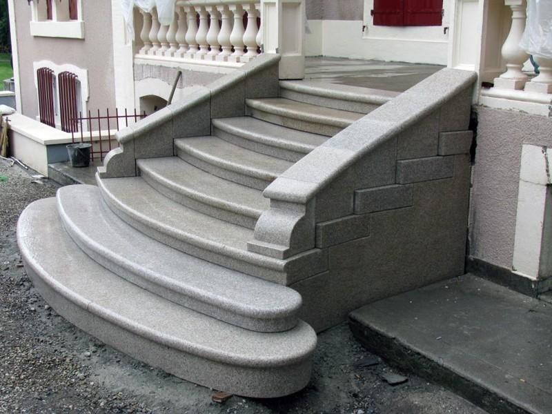escalier en granit massif. Black Bedroom Furniture Sets. Home Design Ideas